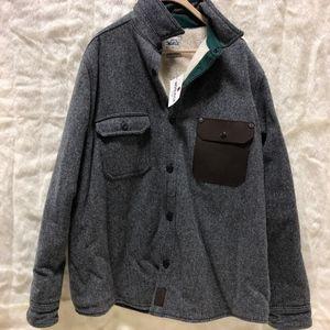 Mens XXL Woolrich Wool Sherpa Button up